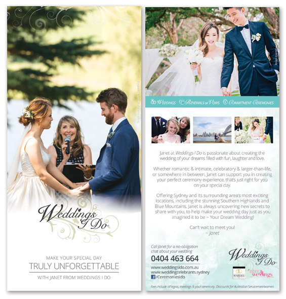 Sydney's Marriage Celebrant - Janet Lomax ~ Wedding I Do Brochure